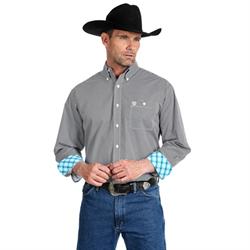 Wrangler George Strait Long Sleeve Black White Print Shirt