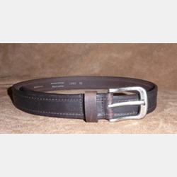 Vintage Bison Men's Gettysburg Handcrafted Chocolate Leather Belt