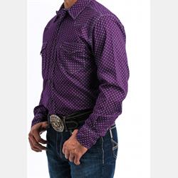 Cinch Men's Purple Snap Western Shirt