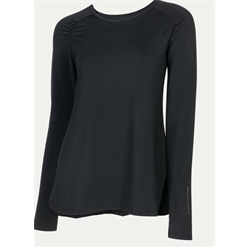 Noble Outfitters Women's Jamie Long Sleeve Black Top