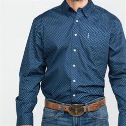 Cinch Men's Navy Dot Geo Print Western Shirt
