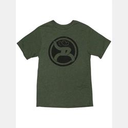 Hooey Men's Roughy Olive Heather Crew Neck T Shirt