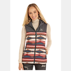 Rock N Roll Cowgirl Junior Quilted Aztec Design Vest
