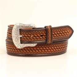 Nocona Ladies Brown Basket Weave Belt