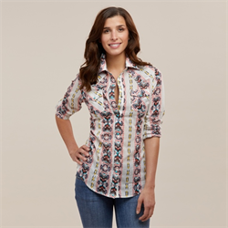 Wrangler Womens Multicolour Aztec Button Down Shirt