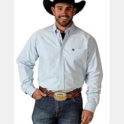 Cinch Men's Western Shirt Oxford Light Blue