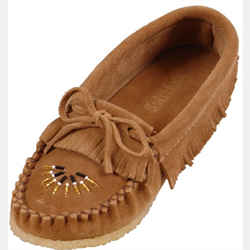 Ladies Leather Moccasin