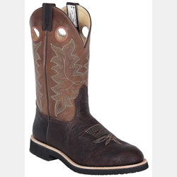 Canada West Brown Bullride Alamo Brahma Roper Boots