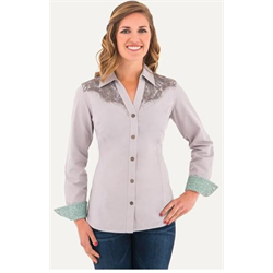 Noble Outfitters Women's BlueGrass Lace Blouse Alloy