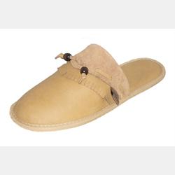 Ladies Mule Leather Slippers