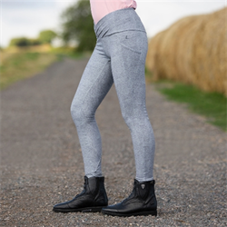 Horze Ladies Leigh Silicone Full Seat Tights With Ergonomic Waist Phone Pocket