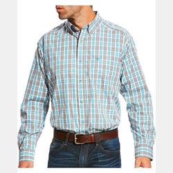 Ariat Men's Lucerne Preformance Grey Blue Shirt
