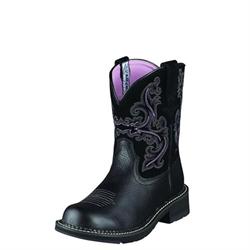 Fatbaby II Black Ladies Western Boot