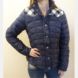 Roper Ladies Quilted Down Jacket Navy Blue