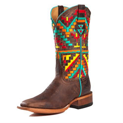 Johnny Ringo Ladies Multicoloured Aztec Western Boot