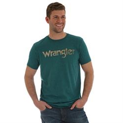 Wrangler Logo T-Shirt Cyan Pepper Heather