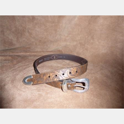 Vintage Bison Men's Brown Rope Diamond Belt
