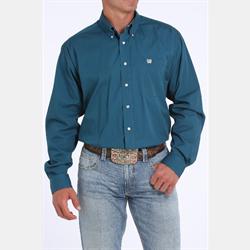 Cinch Men's Solid Teal Button Down Western Shirt