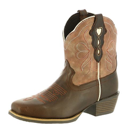 Justin Ladies Chocolate Chellie Pull On Western Boots