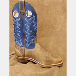 Canada West Men's Blue Brown Western Boots