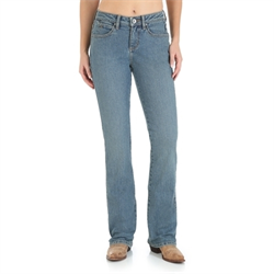 Wrangler Women's Aura Instantly Slimming Tinted Mid Stone Jean