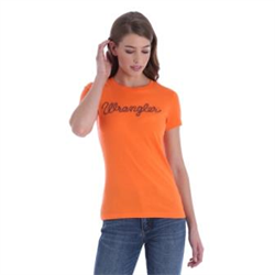 Wrangler Ladies Orange Logo T Shirt