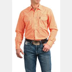 Cinch Men's Coral Geometric Print Western Snap Front Shirt