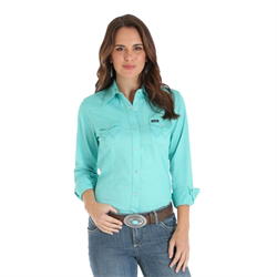 Wrangler Ladies Western Fashion Turquoise Shirt