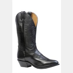 Boulet Men's Black Medium Toe Cowboy Boot