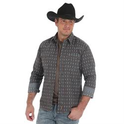 Wrangler Men's Retro Long Sleeve Aztec Print Shirt