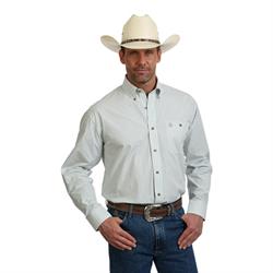 Wrangler George Strait Green and Tan Plaid Shirt