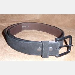Vintage Bison Falcon Cashmere Suede Black Belt