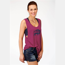 Roper Ladies Jersey Purple Tank Top