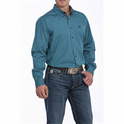 Cinch Men's Solid Teal Western Shirt