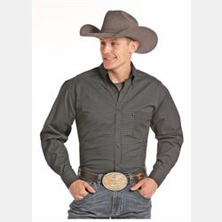 Panhandle Slim Men's Box Print Brown Black Western Shirt