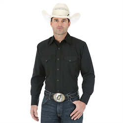 Wranger Western Sport Snap Shirt  Black