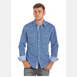 Rock & Roll Cowboy Blue Print Shirt