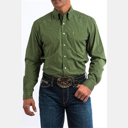 Cinch Men's Olive Print Western Shirt