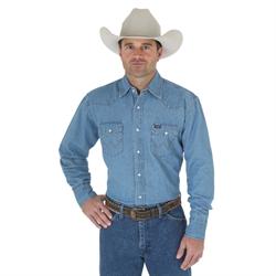 Wrangler Authentic Cowboy Cut Denim Work Shirt