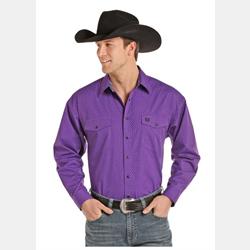 Panhandle Slim Peached Poplin Purple Print Western Shirt