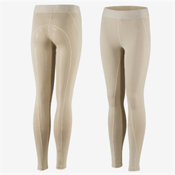Horze Kids Madison Silicone Full Seat Tights Tan