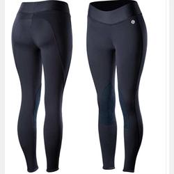Horze Active Women's Knee Patch Winter Tights Navy