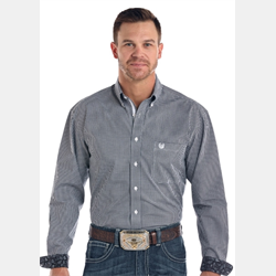 Panhandle Rough Stock Black White Check Western Shirt