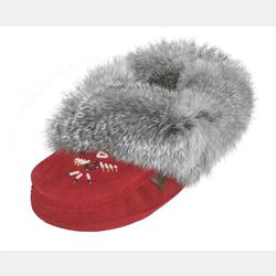 Ladies Red Suede Slippers