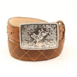 Nocona Boy's Brown Ostrich Belt