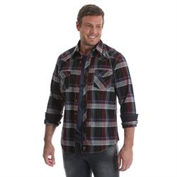 Rock 47® By Wrangler® Western Shirt Red Blue Black Plaid