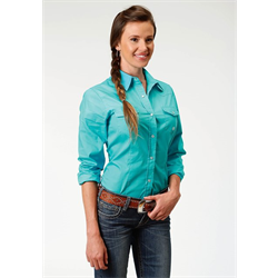 Roper Ladies Aqua Western Shirt