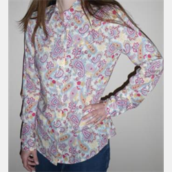 Roper Ladies Sunflower Paisley Western Shirt