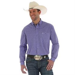 Wrangler 20X Competition Advanced Comfort Purple Print Shirt
