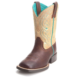 Ariat Brown Quickdraw Gold Western Boots